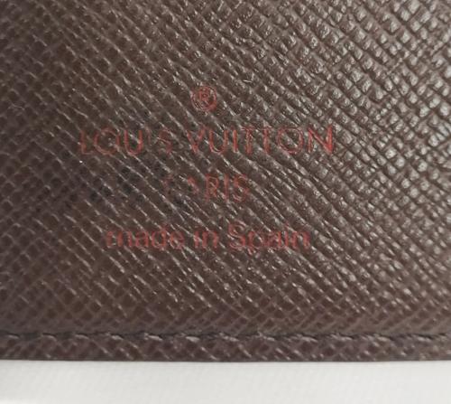 ルイヴィトンダミエ財布刻印の査定画像