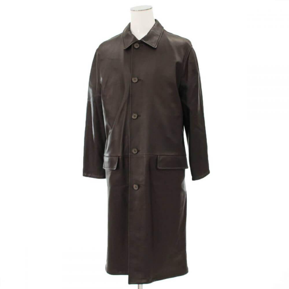 ロングレザーコート/羊革
