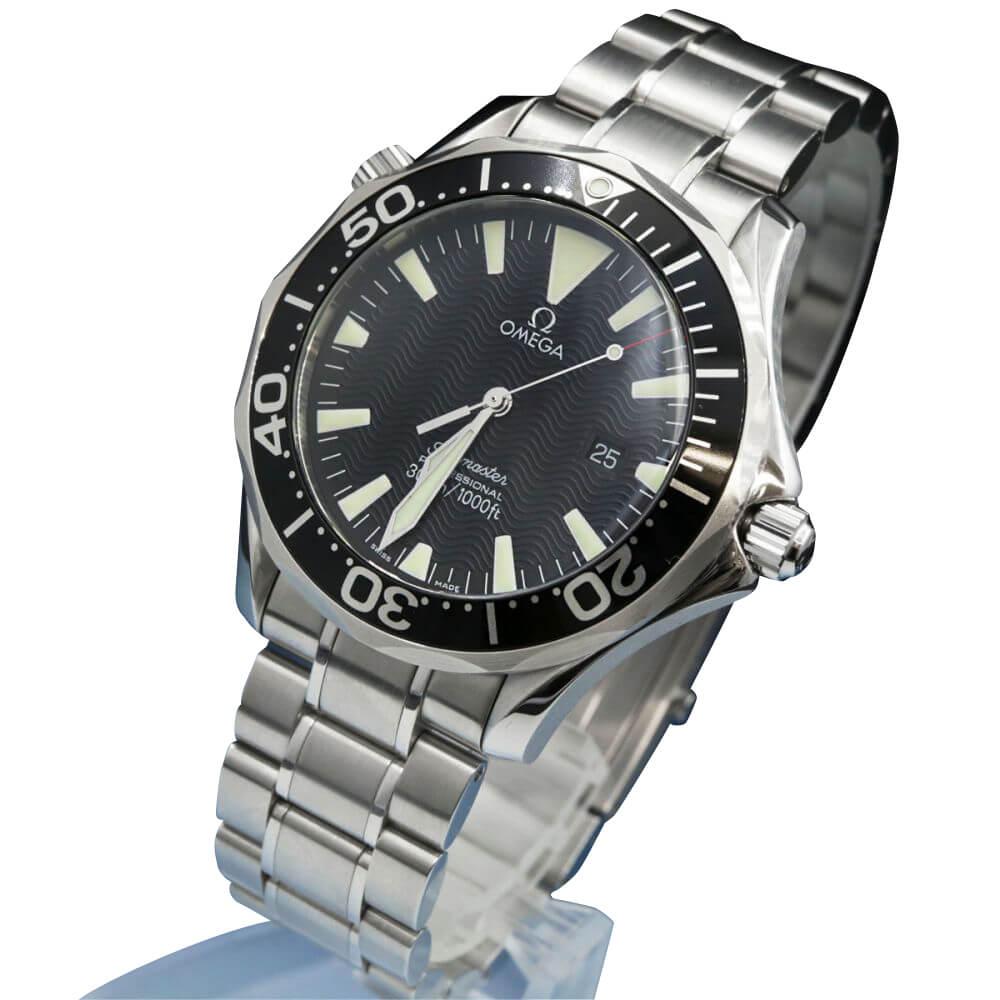 腕時計/シーマスター/プロフェッショナル300/クオーツ/SSxSS/ブラック文字盤