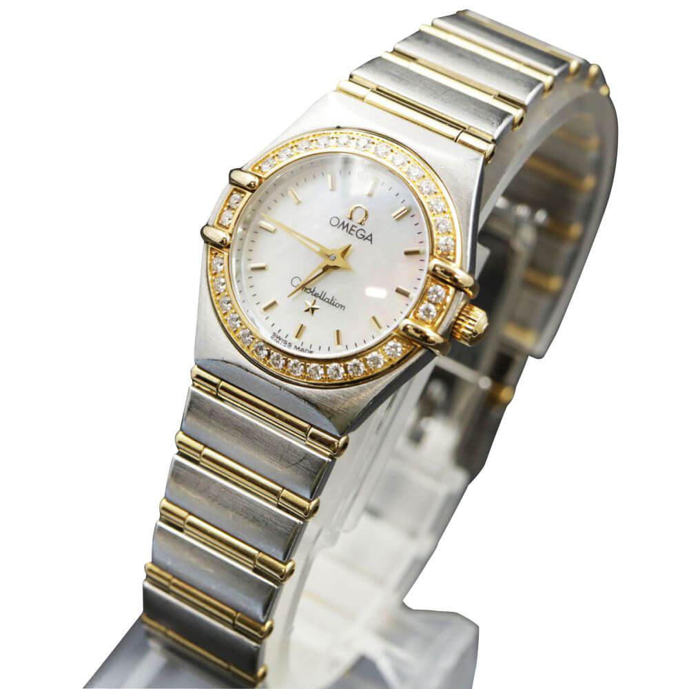 腕時計/コンステレーションミニ/1267-70/ベゼルダイヤ/SSxYG/シェル文字盤