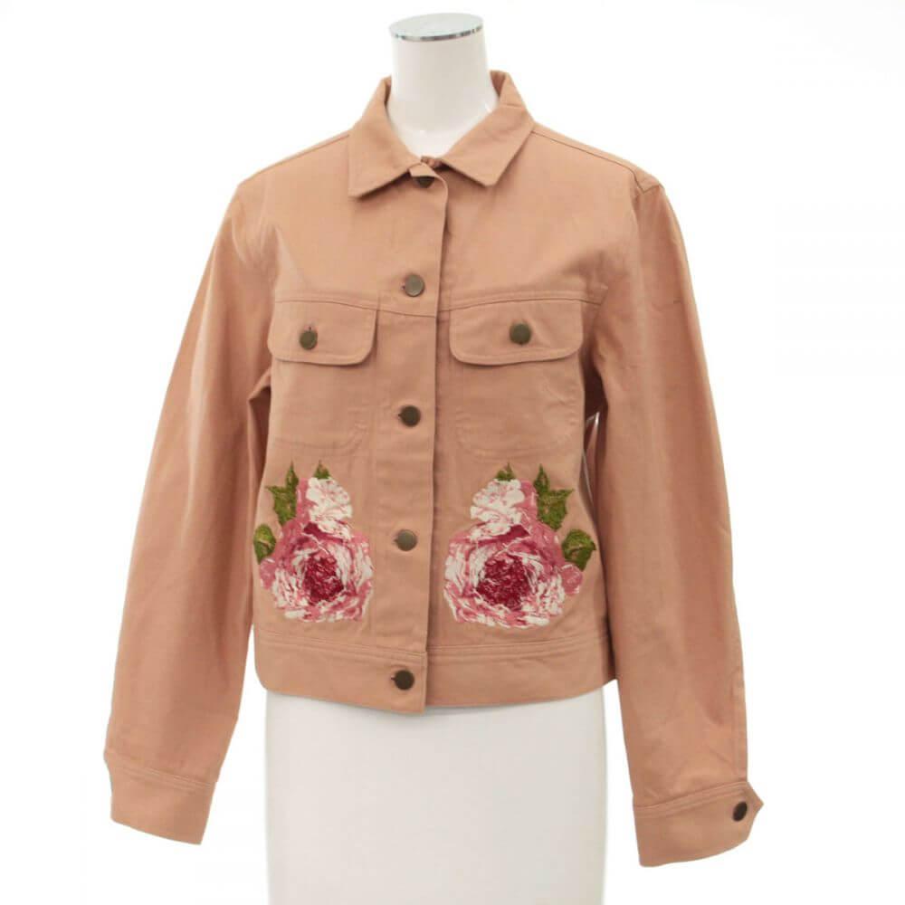 バラ刺繍ジャケット