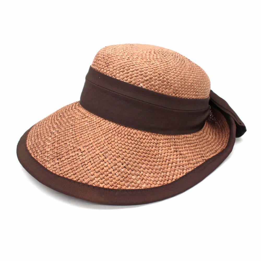 帽子/リボン/ブラウン