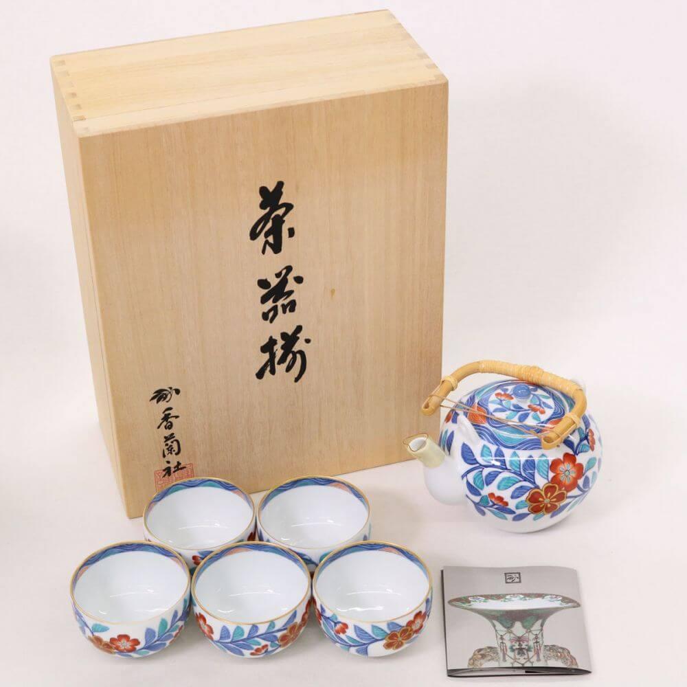 茶器セット/有田焼 色絵磁器