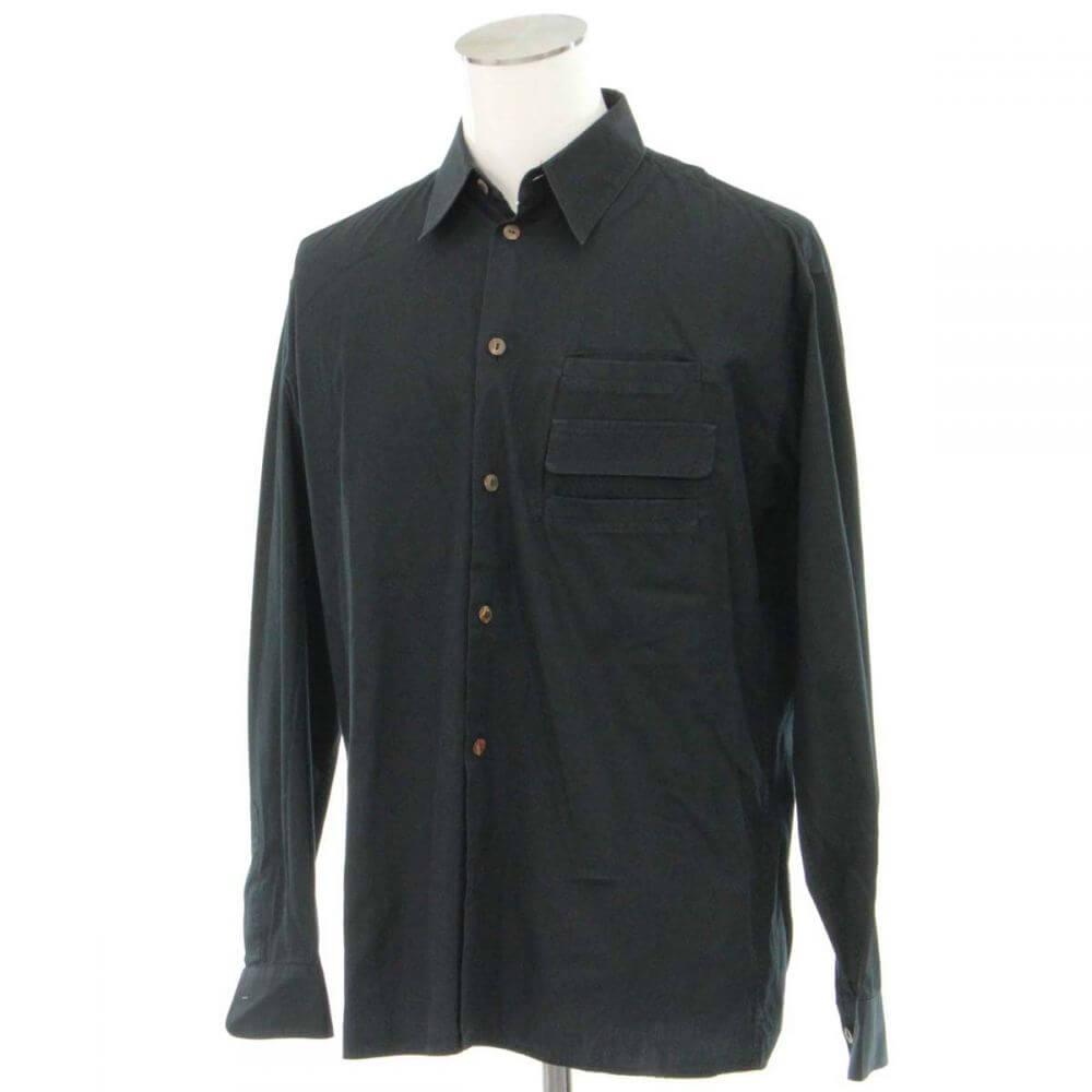 長袖シャツ/ブラック