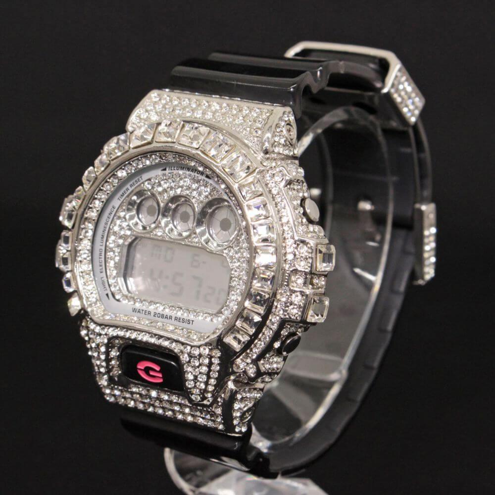 DW-6900CS カスタムラインストーン デジタル腕時計