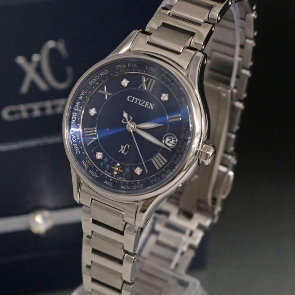腕時計/XC/ダイヤ/チタン/ブルー×シルバー
