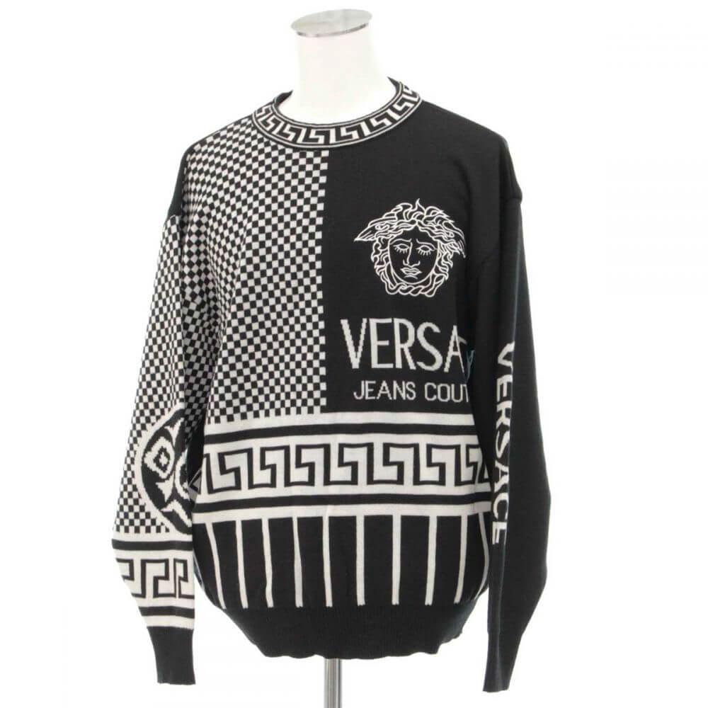 メデューサ刺繍ニットセーター