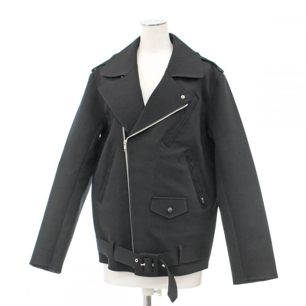 オーバーサイズライダースジャケット/ブラック