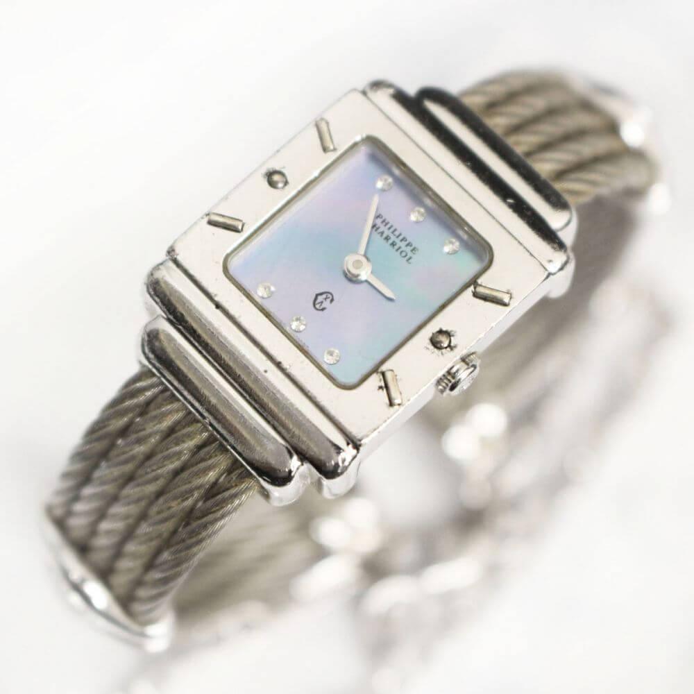 腕時計/サンドロペスクエア/シルバー