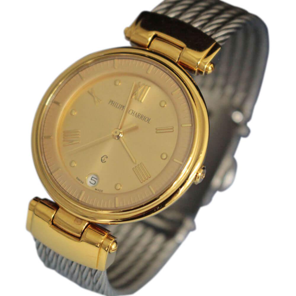 腕時計/3針/カレンダー/ゴールド