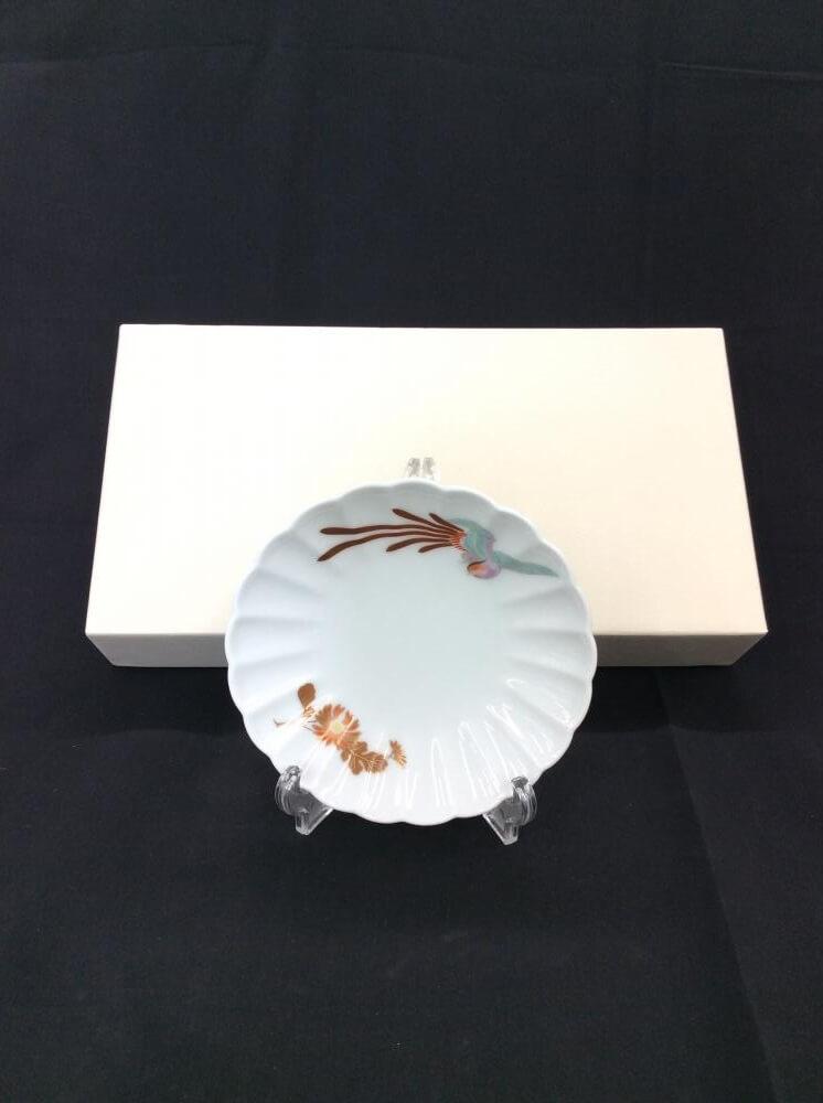 小皿3枚セット/菊鳳凰/箱付