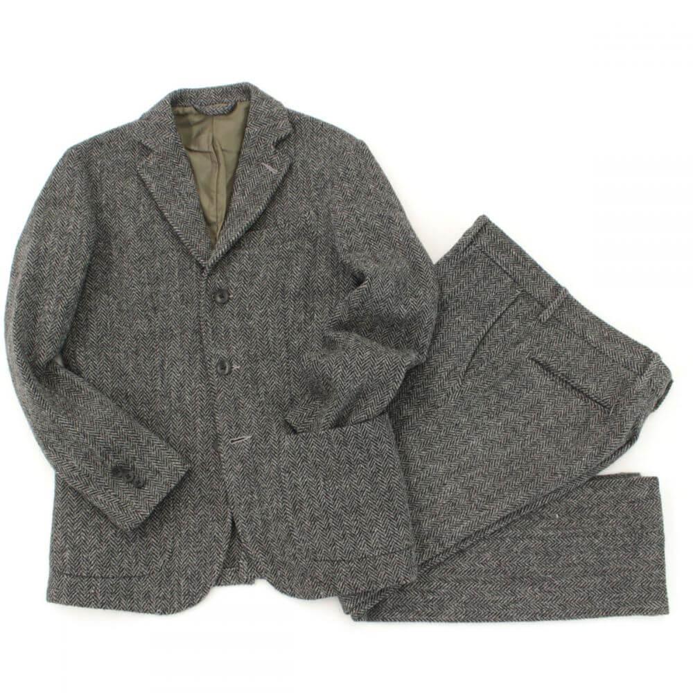 ハリスツイード/スーツ/セットアップ/ヘリンボーン/メンズ