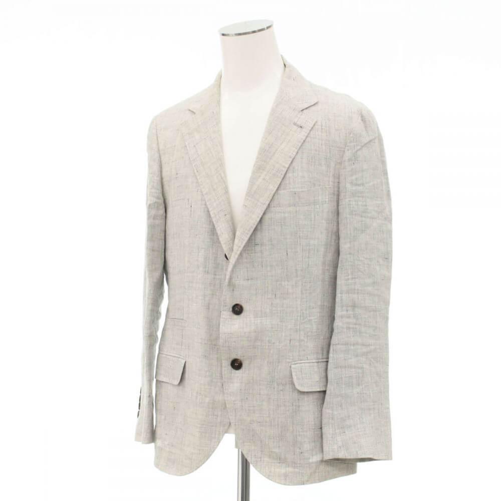 テーラードジャケット/麻100%/段返り3B