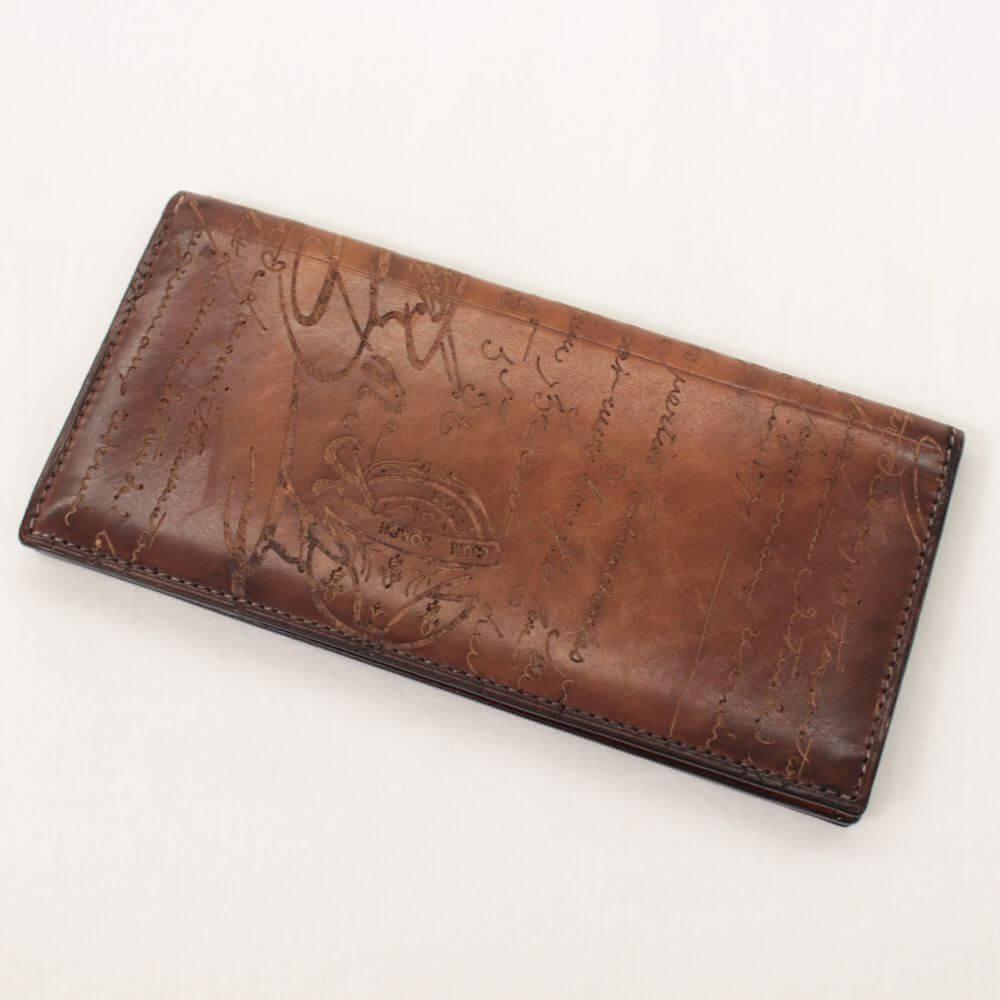 二つ折り長財布/ カリグラフィ