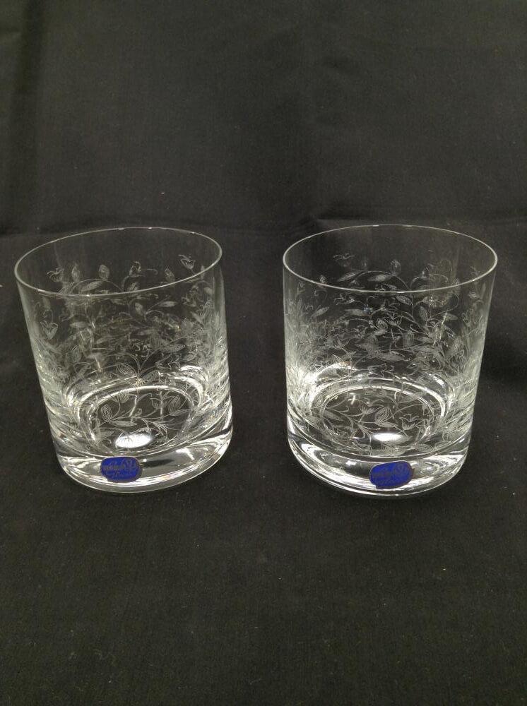 ロックグラス/2客セット/口径8cm 高さ9cm
