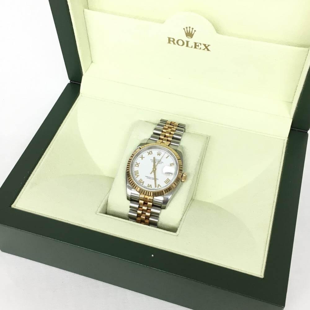 腕時計/デイトジャスト/116233/SSxYG/ホワイトローマ字文字盤