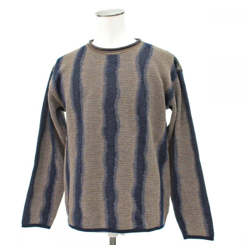 プリーツボーダー柄セーター
