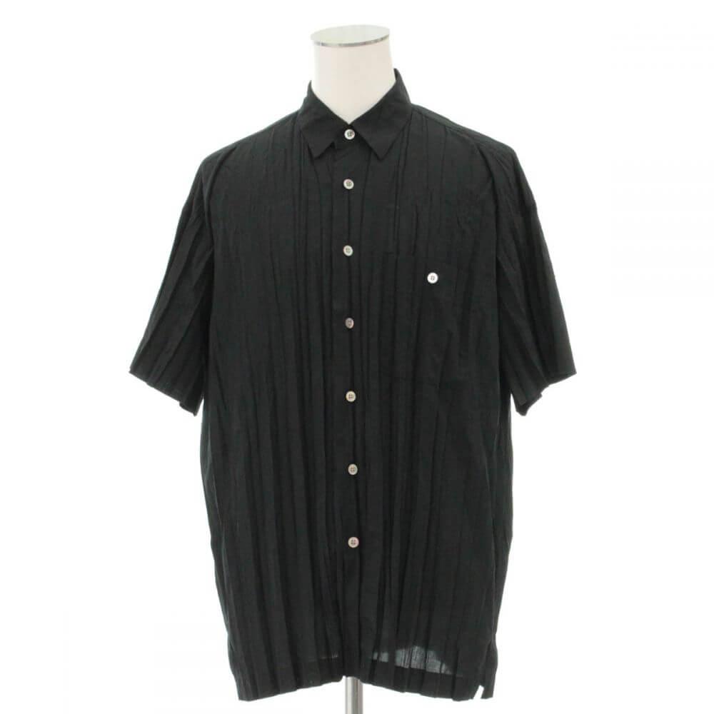 半袖シャツ/プリーツ加工