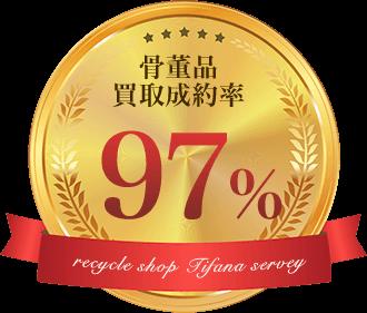 骨董品買取成約率97%