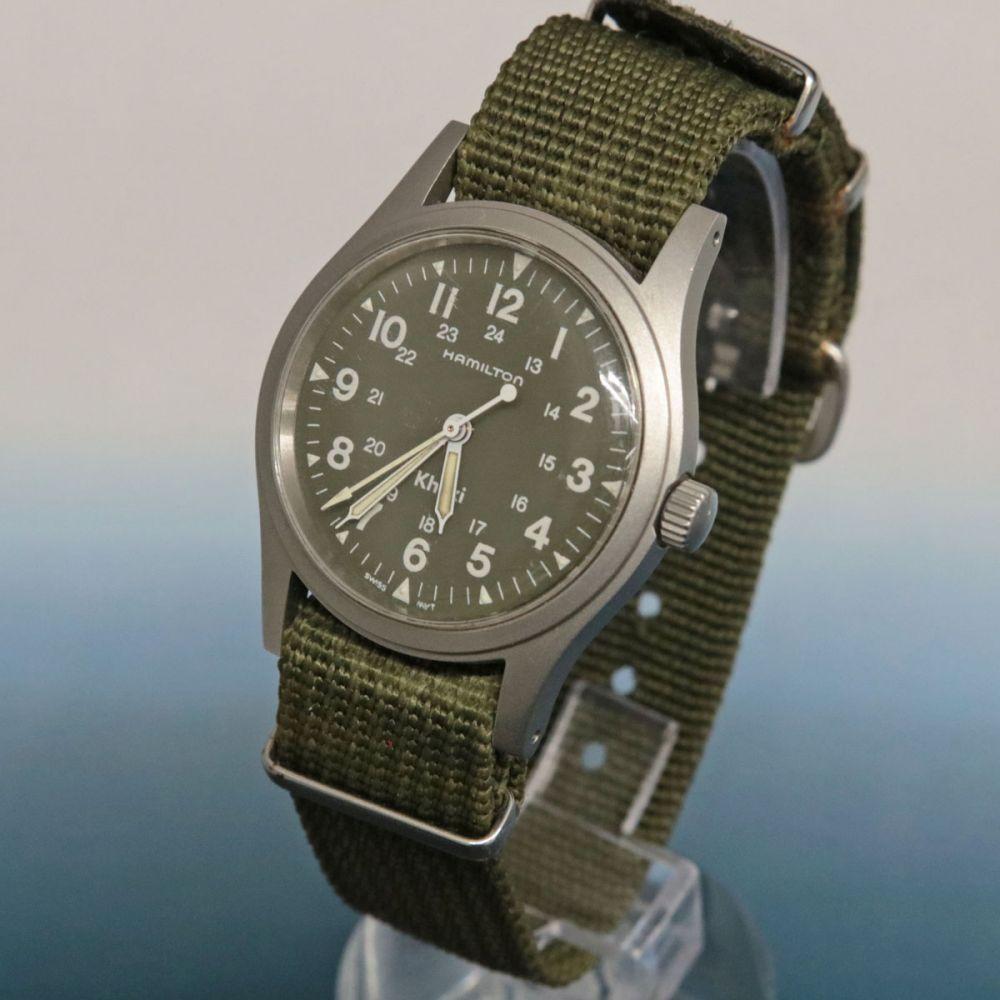 ハミルトンのカーキシリーズの腕時計