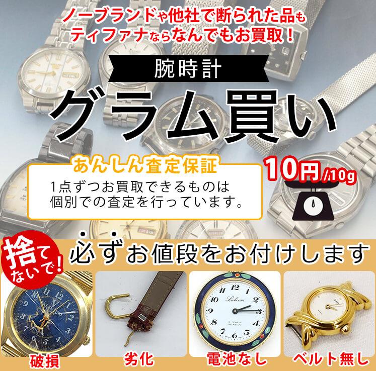 グラム買い腕時計イメージ