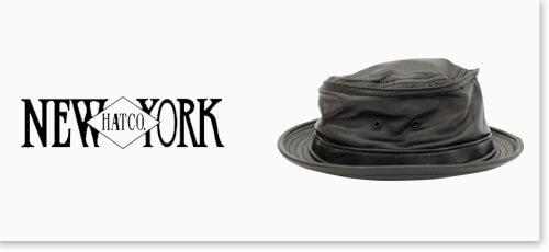 ニューヨックハットの帽子