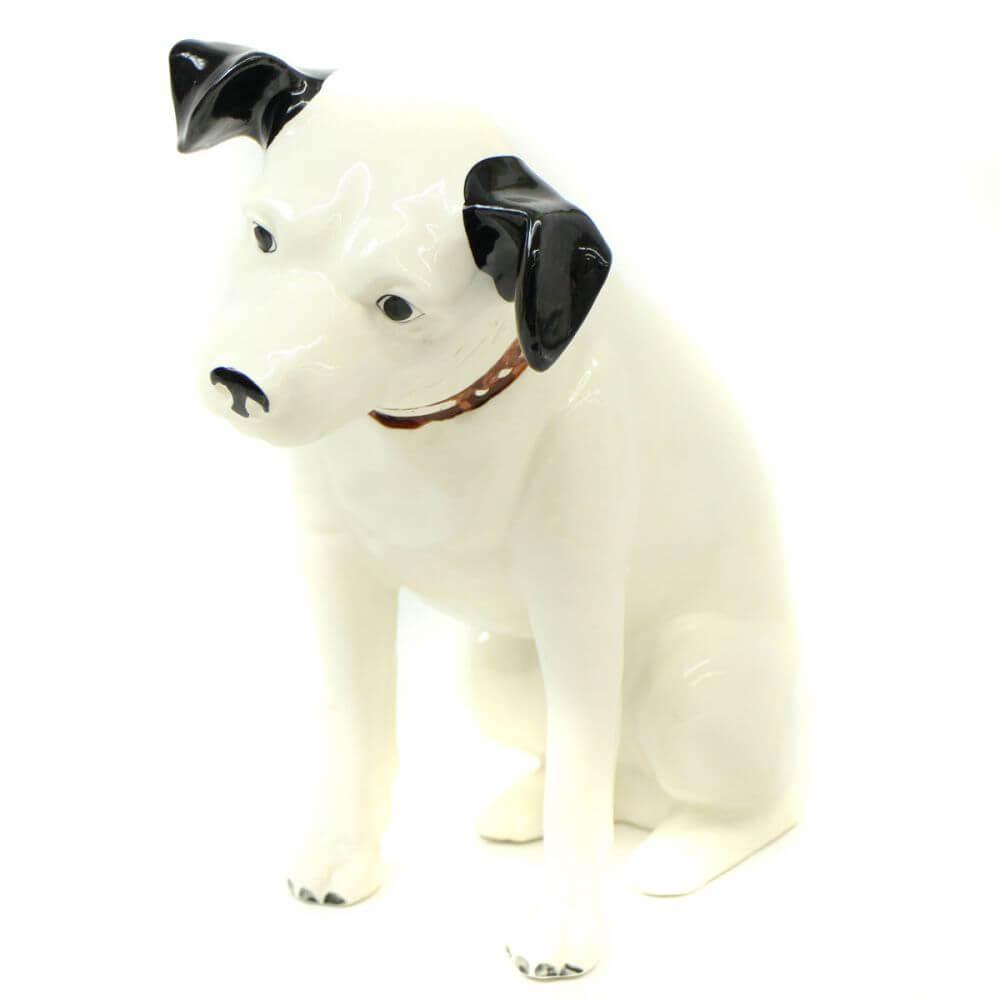 Victor犬 ビクター犬 ニッパー 特大陶器 高さ約32cm 首輪名前入り ディスプレイ オブジェ 置物 インテリア 昭和レトロ