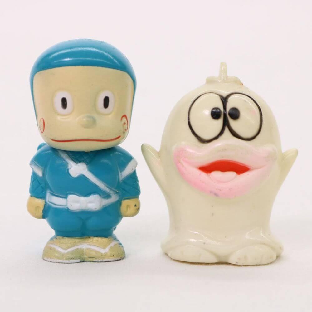 レトロ ハットリくん&オバケのQ太郎 ミニソフビ フィギュア 人形 置物