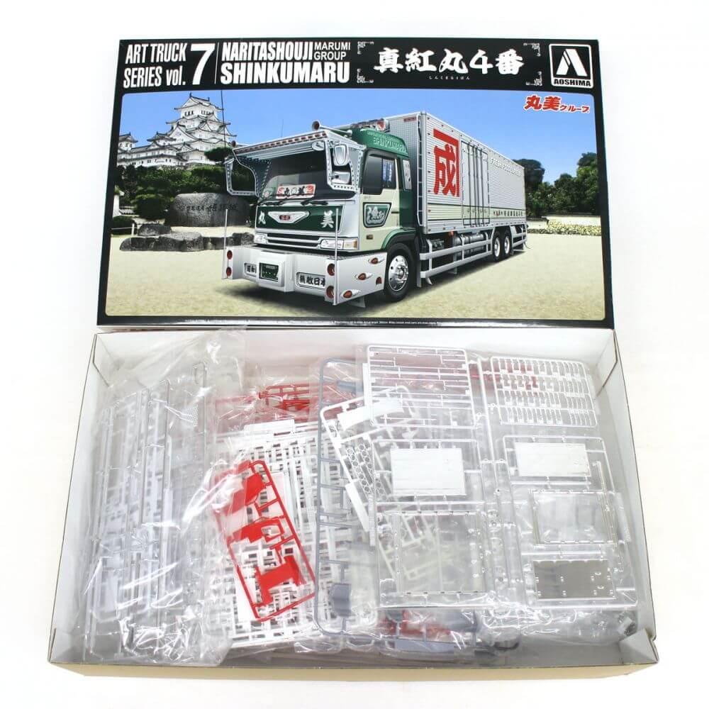 青島文化教材社/アートトラック/真紅丸4番/丸美グループ/デコトラ