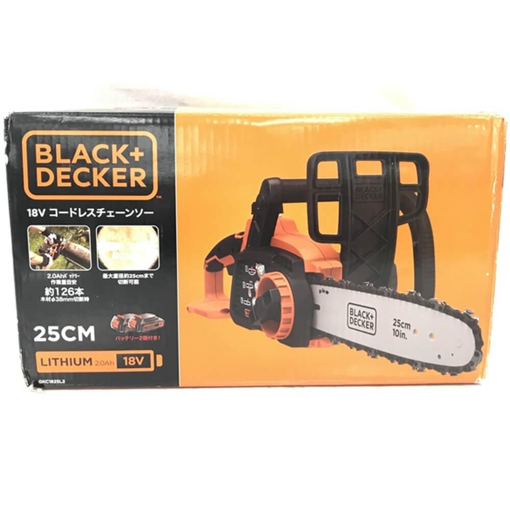 ブラックアンドデッカー 18V コードレスチェーンソー GKC1825L2